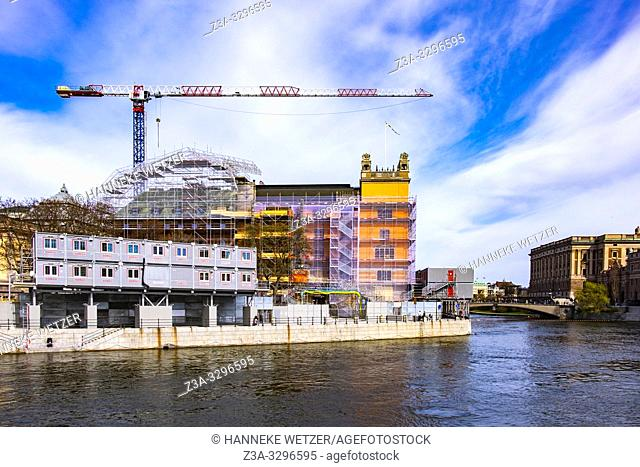 Construction site in the city centre of Stockholm, Sweden