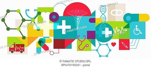 Illustration of health insurance