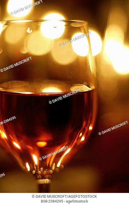 close up of wine glass in a domestic setting