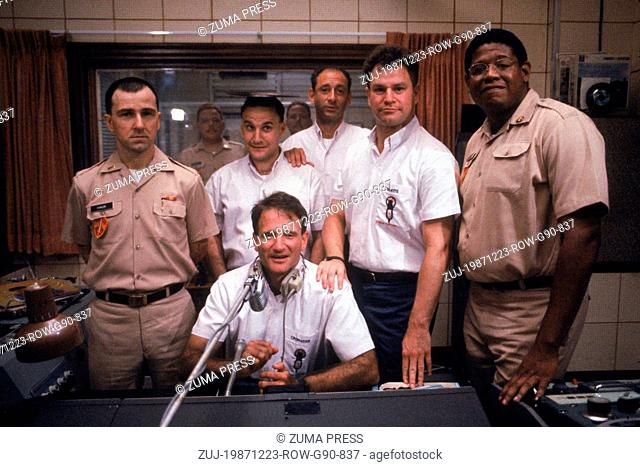 Dec 23, 1987; BANGKOK, Thailand; Actor ROBIN WILLIAMS stars as A2C Adrian Cronauer with Forest Whitaker as Pfc. Montesque Garlick in 'Good Morning Vietnam