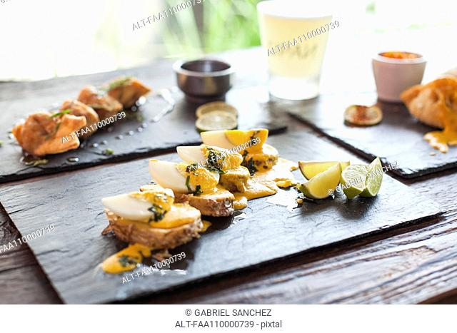 Appetizers on plate