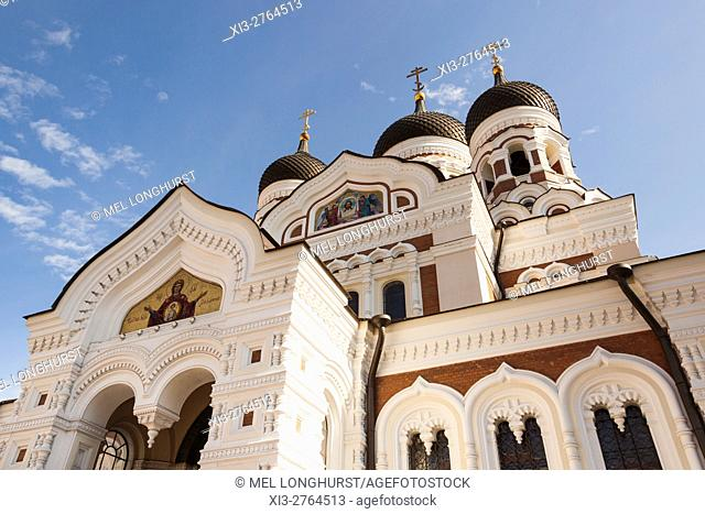 Orthodox Cathedral of Alexander Nevsky, Toompea, Old Town, Tallinn, Estonia
