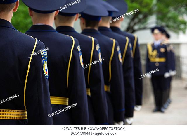 Russia, Moscow Oblast, Moscow, Kremlin, soldiers of the Presidential Regiment, NR