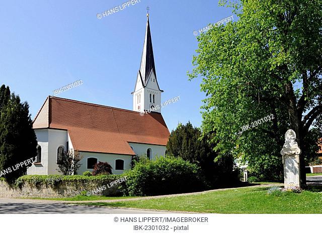 Parish church of St. John the Baptist, Rott am Lech, Lake Ammer region, Five Lakes region, Upper Bavaria, Bavaria, Germany, Europe, PublicGround