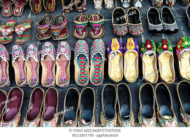 Nepal, Pokhara, shoes
