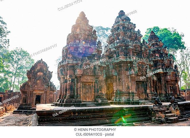 The temple of Banteay Srey (Citadel of Women) close to Angkor Wat, Siem Reap, Cambodia