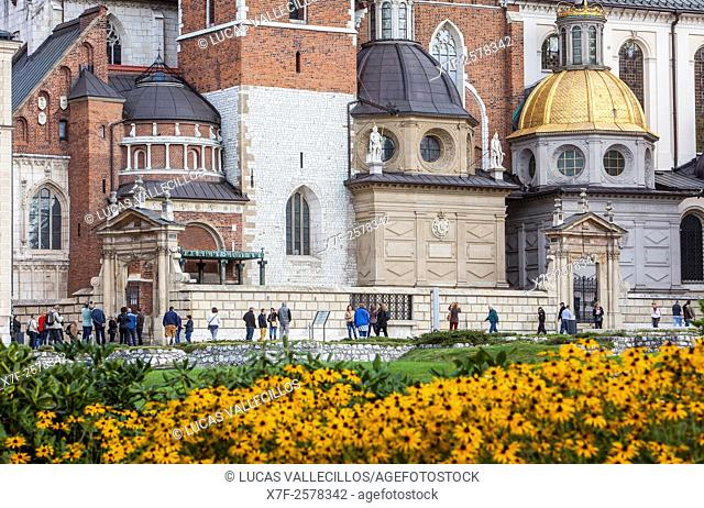 Sigismund's Cathedral and Chapel as part of Wawel Royal Castle, Krakow, Poland