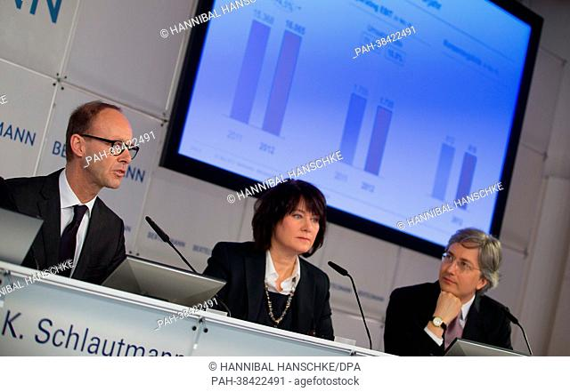 CEO of Bertelsmann, Thomas Rabe, CEO of broadcaster RTL in Germany, Anke Schaeferkordt, and manager for company develpment