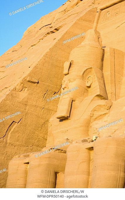 Colossal Statue of Pharao Ramses II., Abu Simbel, Egypt