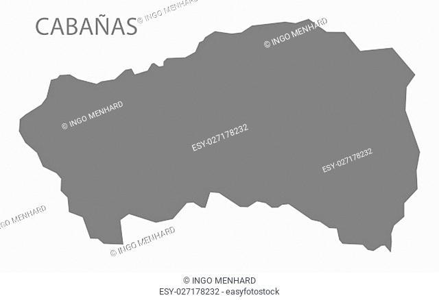 Cabanas El Salvador Map grey