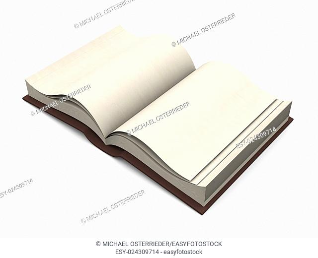 An antique Book. 3D rendered Illustration. Isolated on white