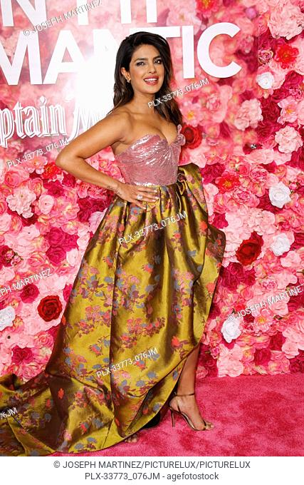 """Priyanka Chopra at Warner Bros. Pictures' """"""""Isn't It Romantic"""""""" Premiere held at The Ace Hotel in Los Angeles, CA, February 11, 2019"""