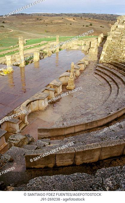 Roman Amphitheater. Roman ruins. Segobriga. Cuenca. Spain