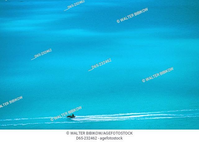 Jet skiing. Matira Point. Bora Bora. French Polynesia