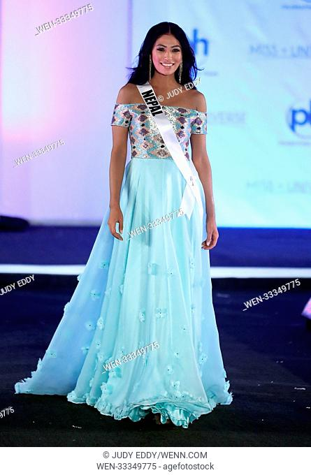 Miss Universe Preliminary Competition at Planet Hollywood Resort & Casino Featuring: Miss Nepal Nagma Shrestha Where: Las Vegas, Nevada