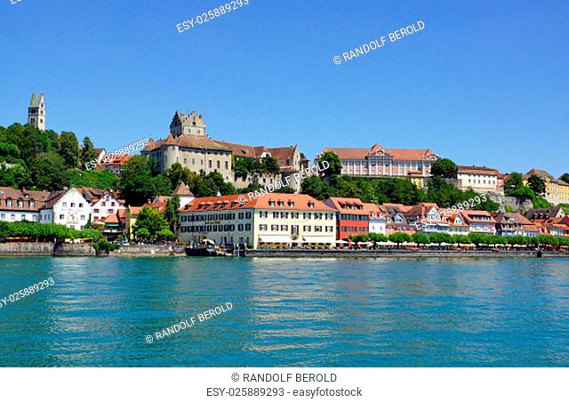 meersburg on lake constance in summer