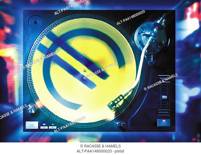 Euro sign on turntable
