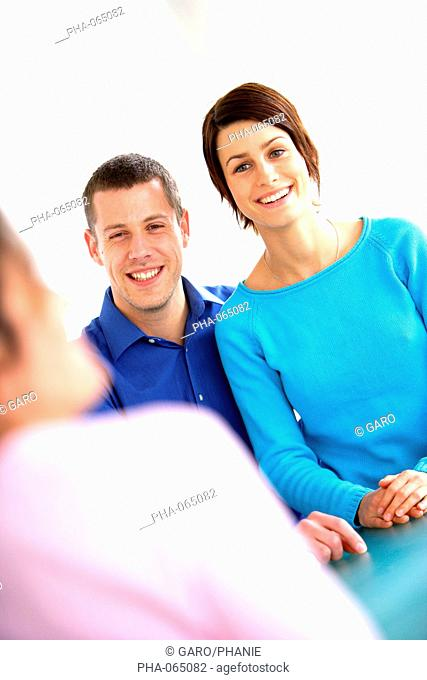 Young couple in a counselling session