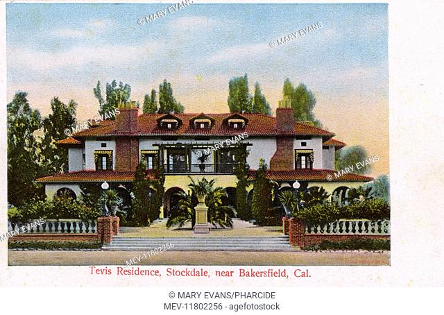 Residence of William S Tevis, Stockdale, near Bakersfield, Kern County, USA