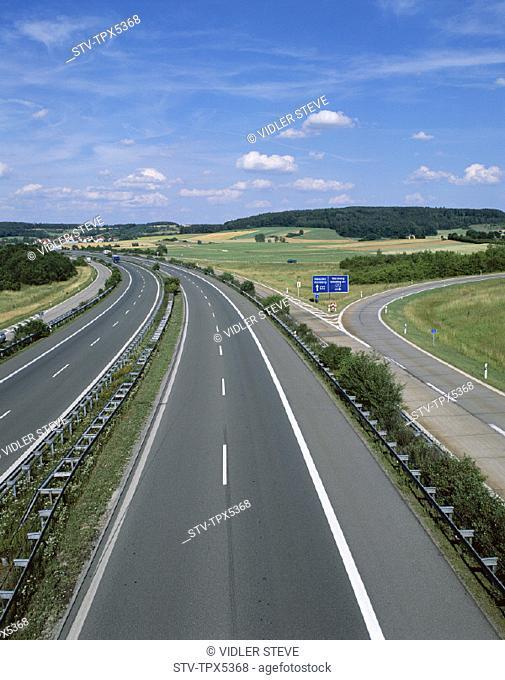 Autobahn, Empty road, Fields, Germany, Europe, Highway, Holiday, Landmark, Motorway, Tourism, Travel, Vacation