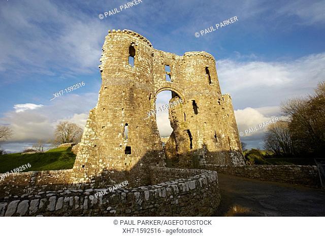 Llawhaden Castle, Pembrokeshire, West Wales, UK