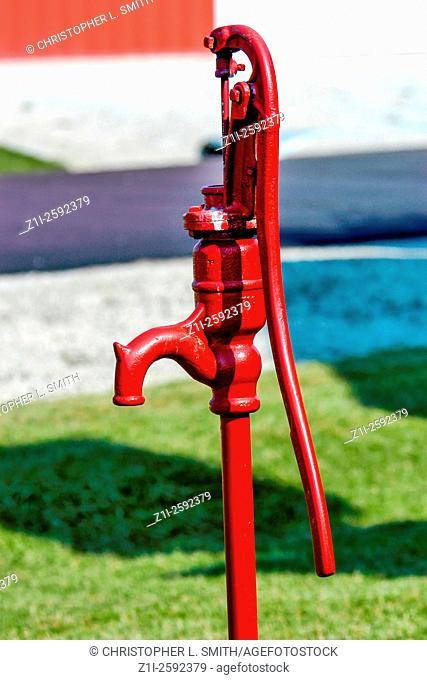 Hand cranked water pump