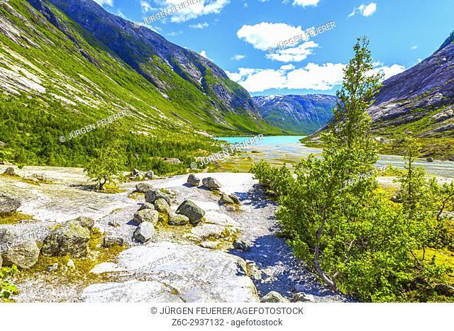Nigardsbreenvatnet, lake of the Nigardsbreen glacier, Norway, Scandinavia