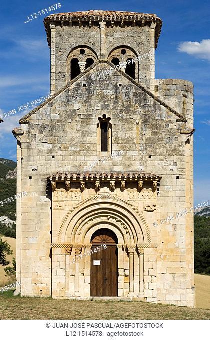 San Pedro de Tejada church, Puente Arenas, Merindad de Valdivielso, Burgos province, Castilla-León, Castille-Leon, Spain