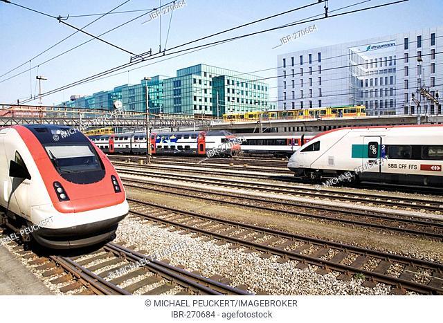 Public transportation, main station, Basel, Switzerland