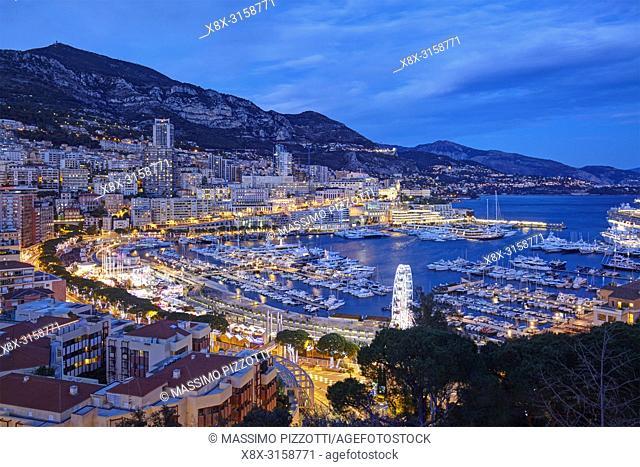 Montecarlo, Principality of Monaco, at night