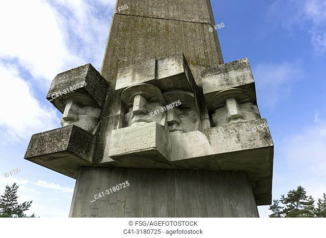 World War II Soviet Memorial. Saaremaa. Estonia