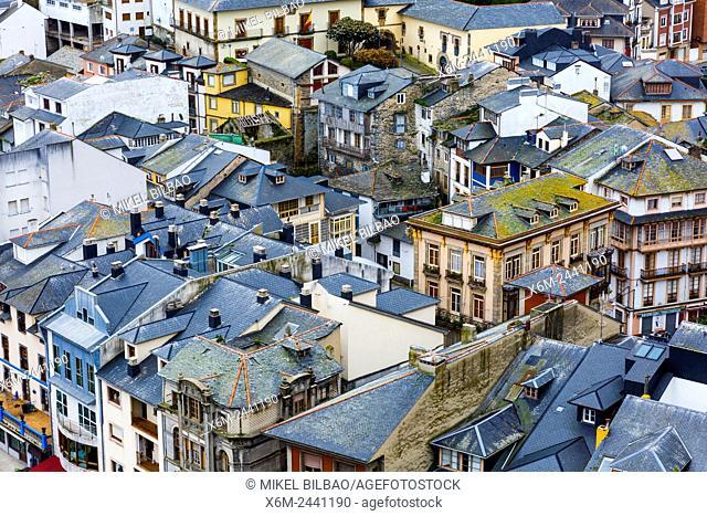 Luarca village. Asturias, Spain, Europe