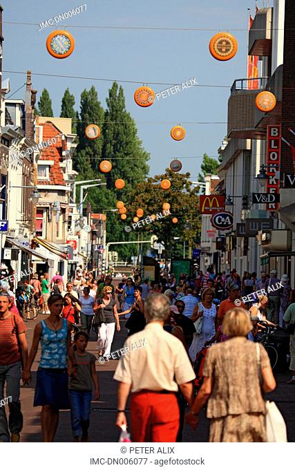 The Netherlands, South Holland, Gouda, pedestrian street