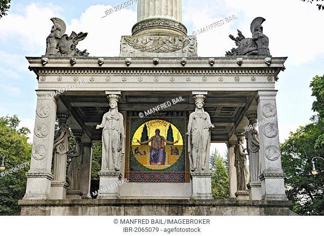 Base of the Friedensengel, Angel of Peace, Bogenhausen quarter, Munich, Bavaria, Germany, Europe