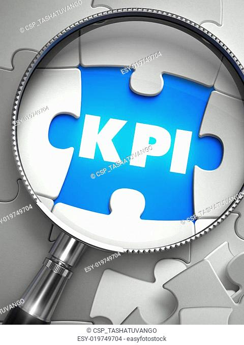 KPI - Missing Puzzle Piece through Magnifier