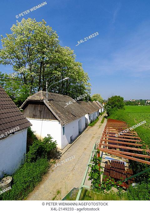 village, houses in a row, Austria, Lower Austria, Hollabrunn
