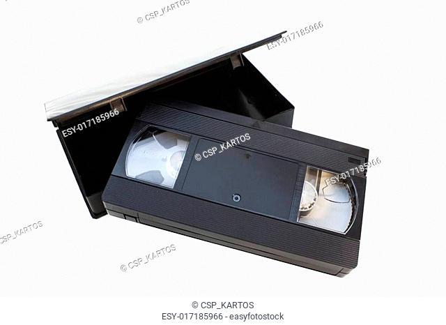 vhs videotape with black box
