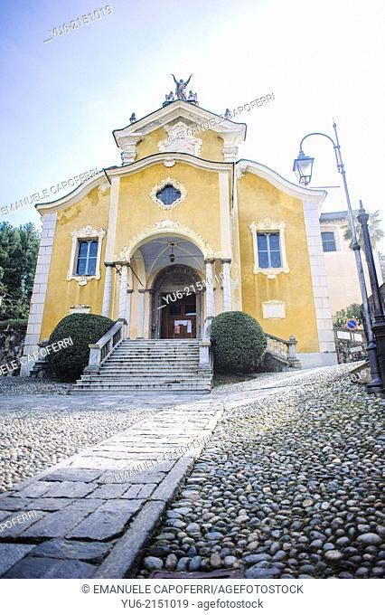 Church of Santa Maria Assunta 1485, village of Orta, Lake Orta, Piedmont, Italy