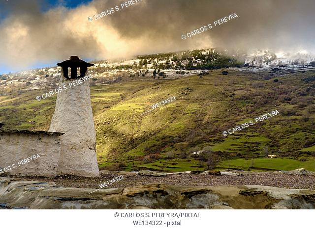 Capileira in Poqueira ravine, La Alpujarra, Granada province, Andalusia, Spain