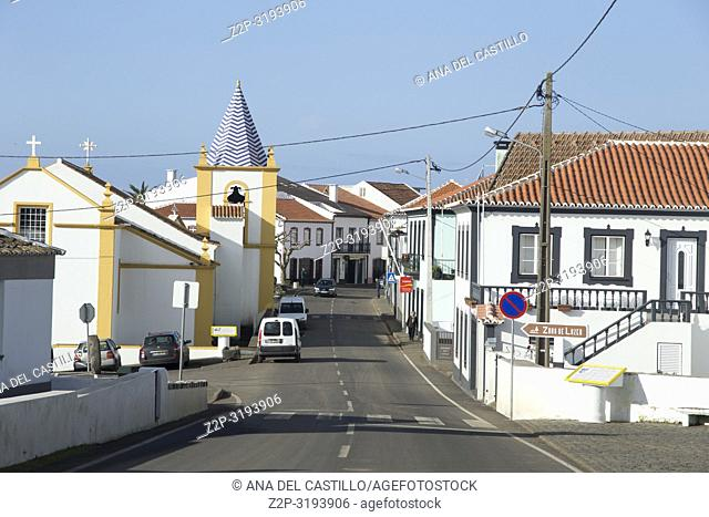 Santa Barbara Typical village in Terceira island Azores Portugal on January 8, 2017