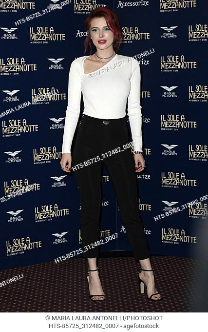 Bella Thorne During Midnight Sun Film Photocall Rome Italy 27 02