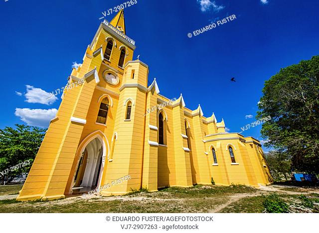 Exterior of the Eknakan church, Yucatan (Mexico)