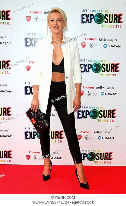 Exposure the Musical: Life Through a Lens - gala performance at the St James Theatre, London Featuring: Olivia Bentley Where: London