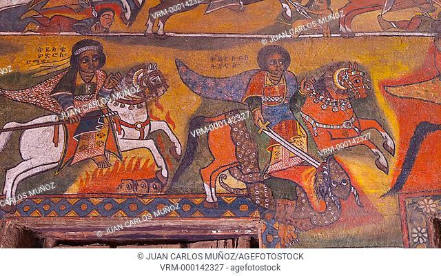 Paintings in Debre monastery