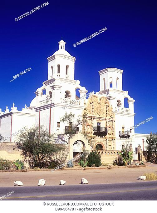 San Xavier Del Bac Mission, Tucson, Arizona, Usa