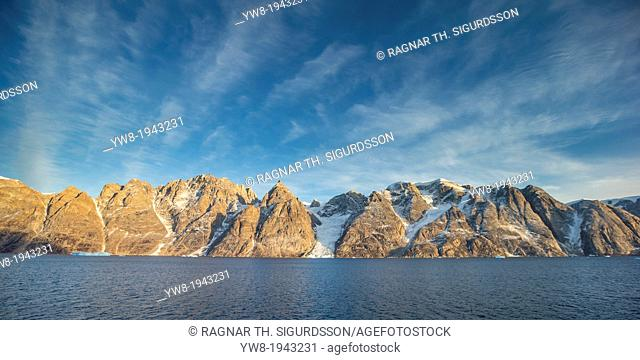 Mountain landscape, Scoresbysund, Greenland