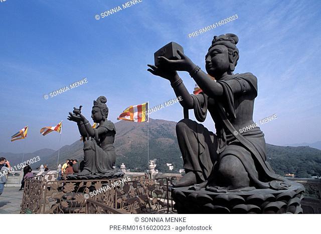 Po Lin Monastery, Lantau Island, Hongkong, China / Po Lin Kloster, Lantau Island, Hongkong, China