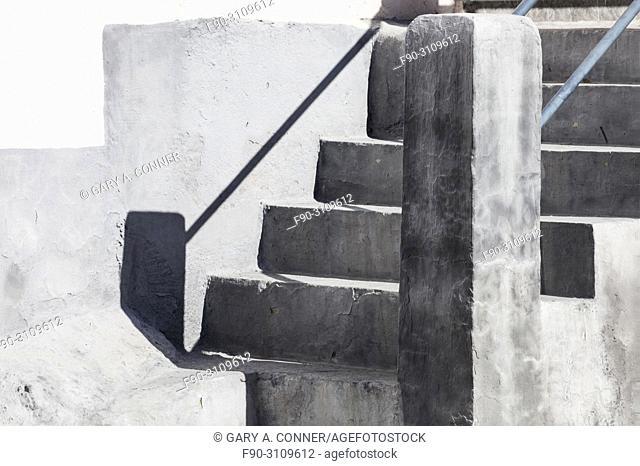 Concrete stairs in Salobreña, Granada, Spain