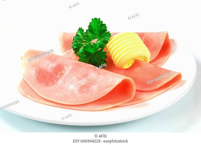 Slices of ham