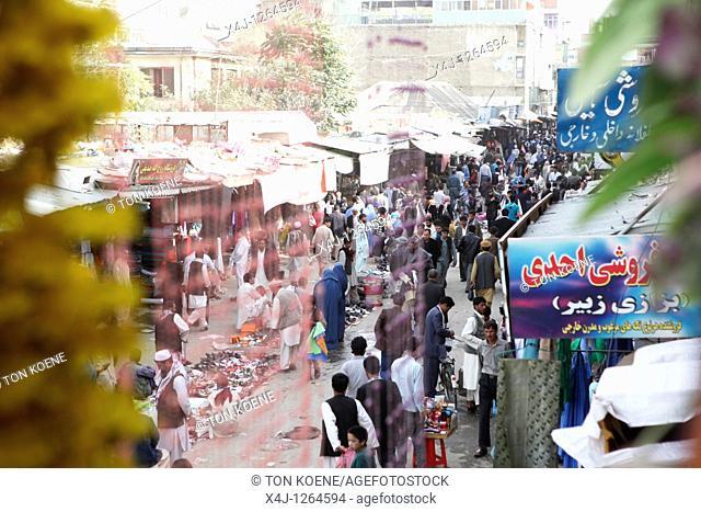 streetmarket in kabul, afghanistan